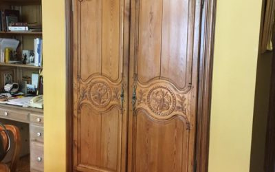 Home Decor Idea for Repurposed Armoire Doors