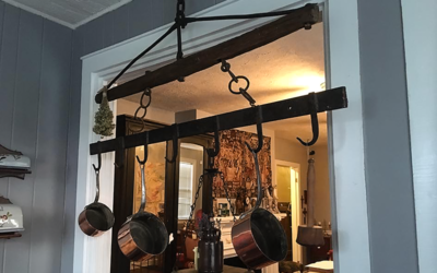 Farm Industrial Style Pot Rack